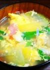 コールラビの洋風かき玉スープ♪