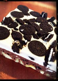 チョコ&オレオチーズケーキ
