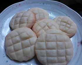 メロンパンの皮風クッキー