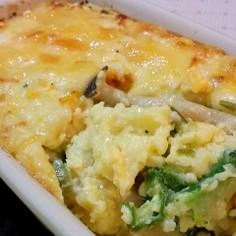 とろろ芋と野菜のこんがりチーズとろろ焼き