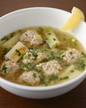 こがしネギの中華風スープ