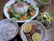 新玉ねぎの彩りスープ煮の写真
