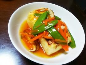 節約&ダイエット♪焼き豆腐の野菜あんかけ
