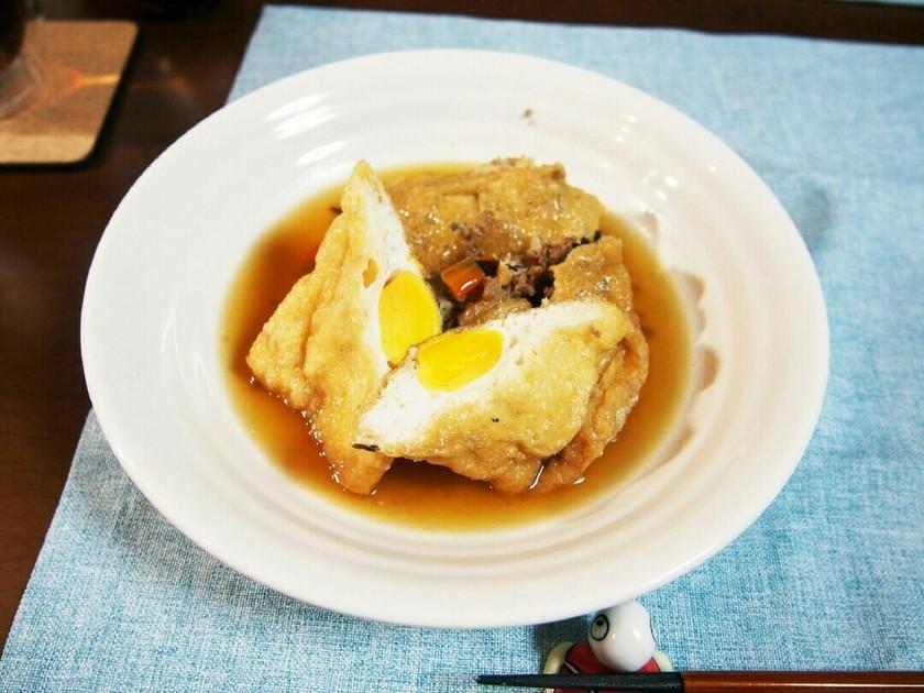 卵とひじきの信田煮