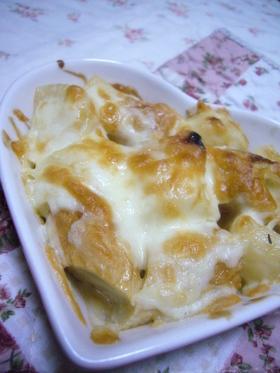 簡単★ちっか&長いものオイマヨチーズ焼き