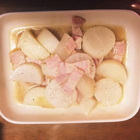 大根とベーコンの煮物
