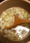 喉風邪に効くニンニク生姜ネギスープ
