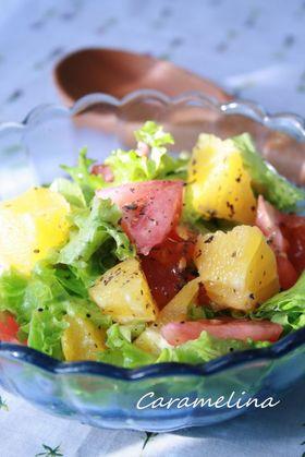 ちぎりサラダ菜とトマトのシトラスサラダ
