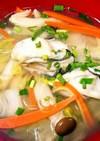 中華風、牡蠣のぷっくりスープ。