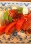 モッツァレラのサラダ干し柿のドレッシング