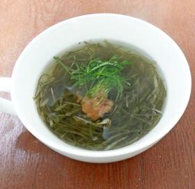 簡単がごめ昆布スープ