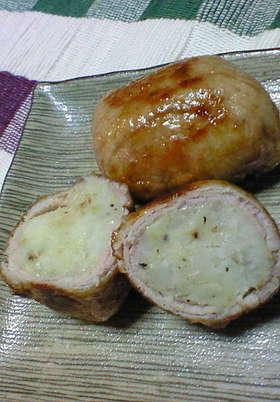 チーズポテトの肉巻き