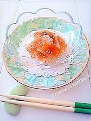 大根と*奈良漬け*のシャッキリ和え♪副菜の写真