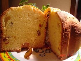ホームベーカリーでチーズパウンドケーキ