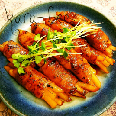 冷凍ポテトで簡単ウマい♡炙り肉巻きポテト