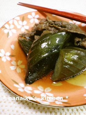茄子と牛肉のあっさり煮