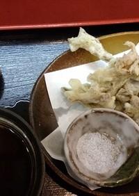 天然ヒラタケの天ぷら