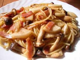 餃子のタレでスパゲチィ~?
