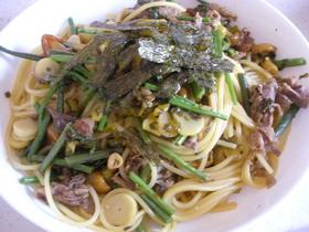 和風✿牛肉と山菜パスタ
