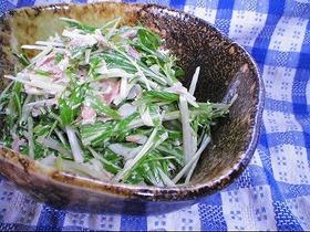 水菜のシャキシャキ♪サラダ