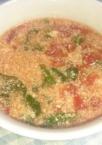 ほうれん草とトマトの豆乳スープ☆