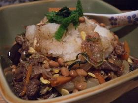 お腹いっぱい!納豆牛丼