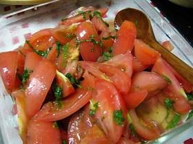 トマトの塩ぽん酢和え
