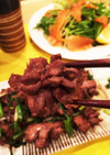 食べ応えハンパないコリッコリの砂肝炒め。