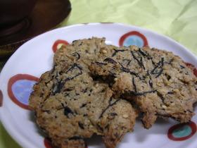 カリッ☆と、ひじきクッキー♪