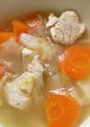 白菜と鶏むね肉 野菜の白ワイン煮込み!