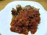 チキンソテー小悪魔風トマトソースの写真