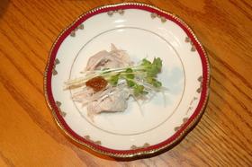 梅肉で爽やか☆ゆで豚ロール