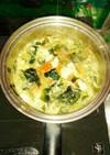 豆腐 & ゴマ入り野菜卵スープ☆