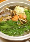 簡単☆あさりと野菜しゃぶしゃぶ鍋