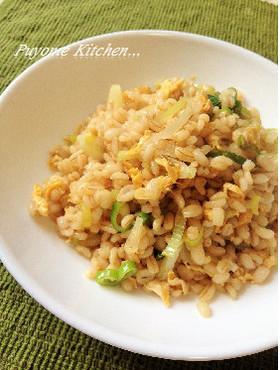 もち麦のシンプル炒飯