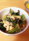 簡単ランチ☆小松菜とカニカマのあんかけ丼