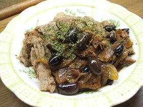 牛肉とアンチョビの赤ワイン煮