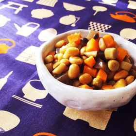 節分豆が残ったら☆レンジで簡単五目豆