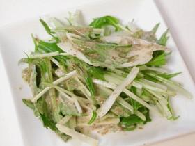 新たまねぎと水菜のサラダ