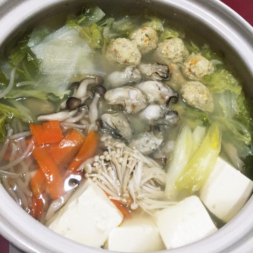 牡蠣鍋 (塩味)