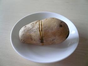 茹でジャガイモの皮のむき方
