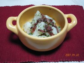 新ジャガこふき芋のカリカリべーコン和え