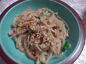 もやしとハムの中華風サラダ