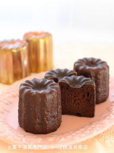 銅の型で 本格チョコレートカヌレ