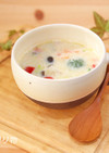 豆乳と雑穀のとろとろスープ