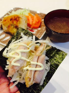 一鶴風☆とりの手巻きご飯inチーズ