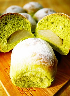 和菓子みたいなパン♪白あん抹茶ちぎりパン