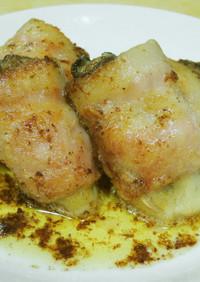 牡蛎のベーコン巻バター焼き