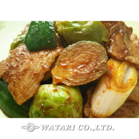 芽キャベツ回鍋肉◇定番をアレンジ
