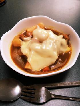 余ったカレーで  カレーグラタンスープ